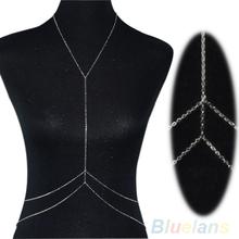 Women's Sexy Bikini Crossover Harness Waist Belly Body Chain Necklace Body Jewelry 1NQU