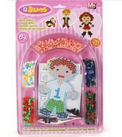 5set boys girls pattern super natural game beads with pegboard hama beads perler beads  DIY educational toy 100% enviromental