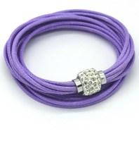 1 PCS Free Shipping Double Pu Leather Packaging Magnetic Shambhala Crystal Wrist Strap Buckle Cuff Bangle Bracelet