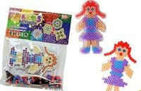5bags boys girls pattern super natural game beads with pegboard hama beads perler beads  DIY educational toy 100% enviromental