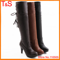 Large size 40 41 42 43 women over the knee boots high heel sexy boots lady winter dress shoes boots AC0-B0