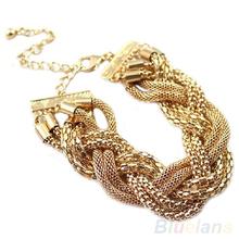 frauen armband gold twisted legierung kette armband 1n6v(China (Mainland))