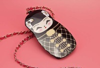 New Luxury Russian Doll Style CC Famous Handbag Case Lanyard Chain Cover For iphone 5 5S 4 4S For Samung S5 Note 3 With LOGO