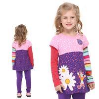 new 2014 hot fashion nova kids brand children clothing cotton autumn long sleeve t shirt for baby girls F1960