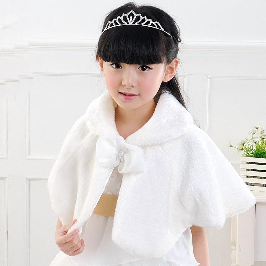 Fur shawl flower girl fur shawl female child cape fur shawl white wedding dress fur shawl(China (Mainland))