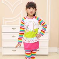 2014 new hot fashion nova kids brand baby boys children clothing cotton spring long t shirt for baby girls F1411