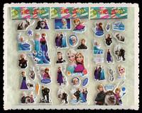 12pcs/lot Wholesale 17*7cm PVC Frozen Puffy Stickers Sheet Kids Toys Frozen Party Supplies