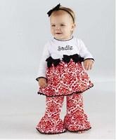 Original Mudpie Baby Girls Damask Minky 2-pieces Clothing Set, Girls Suit, Freeshipping