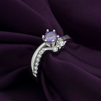 R385 New Arrival!925 Sterling silver ring,925 silver fashion jewelry ring O violet Zircon fashion Wedding ring,Wholesale jewelry
