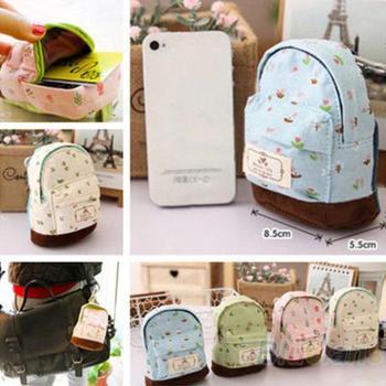 Hot Case Coin Card Purse Wallet Молния Bag Pouch Flower Canvas Box 1OIH