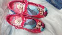 1 Pair Retail Frozen Elsa Princess Shoes for Girls Size 25-30 Little Girl Frozen Shoes Red Frozen Girl Shoes For Frozen Dresses