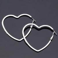Big Hearts Hoop Earrings Austrian Rhinestone Platinum Plated Basketball Wives Jewelry Fashion Jewelry Gift For Women MGC E617B