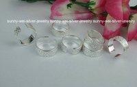 Cute!!Wholesale Lots 10pcs 925 Sterling Silver Fashion Flower pattern toe Rings