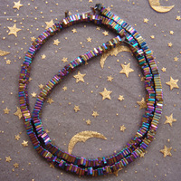 Hot!!! Free Shipping 390pcs/lot 3x1mm rainbow colorful Hematite Square Loose Beads Wholesale