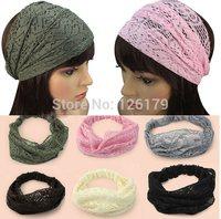 New Fashion Chic Bandanas Lace Head Wraps Women Lady Girls Wide Headband Gift