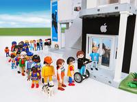 Playmobil toys 100pcs/pack 7cm 5.5cm 3.5cm  mobil dolls blocks figures for kids playmobile people 3 no