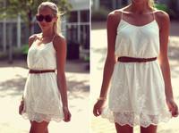 Over 014 new women's fashion lace dress mini bodycon dress frozen dress