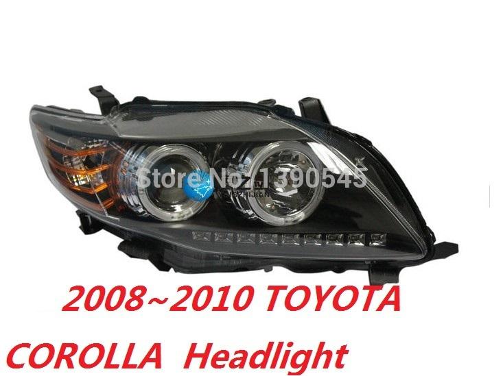 Система освещения + , 2008 2010 Toyota Corolla & HID + ; , 2pcs front bumper left right fog light lamp black grille covers switch h11 bulbs for toyota corolla 2008 2010