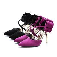 real  Leather Matte leather shoes  Womens  High Heel Platform  Pumps   Fashion  Shoes black