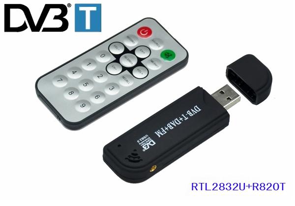 New arrival Software Radio USB DVB-T RTL2832U + R820T Support SDR Digital TV Tuner Receiver(China (Mainland))