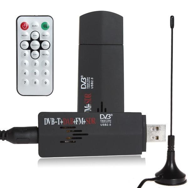 RTL-SDR / FM+DAB / DVB-T USB 2.0 Mini Digital TV Stick DVBT Dongle SDR with RTL2832U & R820T Tuner Receiver + Remote Contro(China (Mainland))