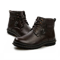 Add Fleece Men Winter Martin Boots EU 39-44 Classic Brand Lace Up Footwear 2014 Urban Man Warm Leather Shoes
