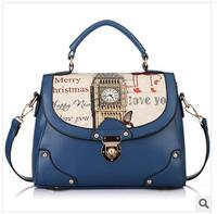 """The new 2014 brand handbag Fashion printing bag lady one shoulder inclined shoulder bag Female bag """"women messenger bags"""