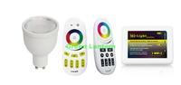 GU10 WIFI contro RF remote control RGB+warm LED Bulb rgbw gu10 lamp base