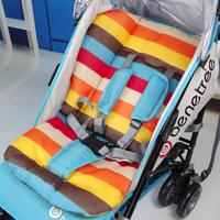 1pc Free shipping hot waterproof baby Stroller Cushion Stroller Pad Pram Padding Liner Car Seat Pad Rainbow cotton thick mat