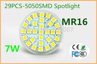 7W MR16 GU5.3 29pcs 5050SMD Warm/Cool White LED Spotlight Lamp Bulb light 220V 600-650lm VS 60W halogen lamp