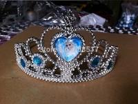 2014 Wholesale children kids hairwear Frozen anna elsa Imperial crown cosplay accessories