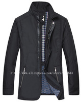 New Men Jacket New 2014 Autumn Winter Fashion#C07, High Quality Classic England Style Slim Fit Cotton Men Coat Outdoor