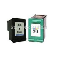 2 CARTUCCE COMPATIBLE PER HP 336 BK + 343 COLOR Photosmart C3180 Printer