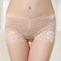 2014New Hot Sale 3pcs/Lot Panties Free Shipping Sexy Women Lace natural bamboo Fabric Fashion Underwear Wholesale