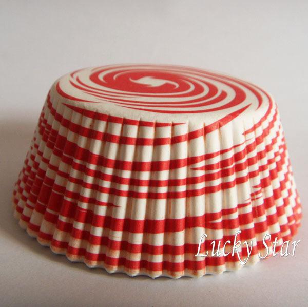 Free Shipping 400pcs Pink Swirl wedding cupcake liner baking cup cake holder muffin paper box 4 party(China (Mainland))