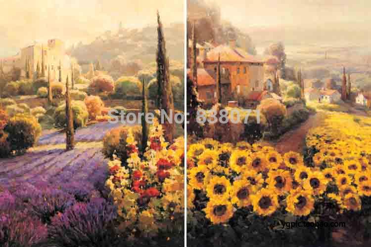 Zonnebloem muurschildering promotie winkel voor promoties zonnebloem muurschildering op - Decoratie schilderij gang ...