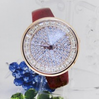 Free shipping,Newest style,Supply casual leather strap watch white-collar favorite diamond fashion statement
