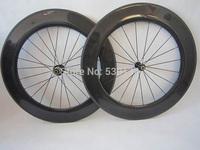 OEM 700c 3k 88mm tubular matte road carbon wheels racing bicycle wheels with novatec 271 hub & spokes & quick release
