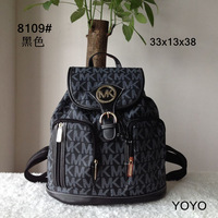 2014 New fashion for ladies` women  girls student school bag backpack pu printing letter hasp big size purse college wind