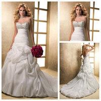 2014 Real Lace Up Lace A-line Natural Vestido De Noiva Vestido Waist New Arrival Sweetheart Wedding Dresses Bridal Gowns__