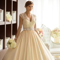 Classic Taffeta Ball Gown Elegant Detachable Diamante Beaded Jacket Ribbon Lovely Sweetheart Chapel Train Wedding Dress Essenseb