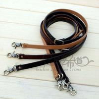 Double sided PU BONDED LEATHER  lengthen Inclined shoulder bag Belt  knapsack belt Buckle 127CM~135CM The adjustable