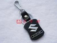 Free shipping 4 s store custom gift * suzuki car keys leather key chain * creative logo * * key ring present activities