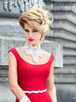2014 Royal Elegant Stunning Crystal Beaded High-neck&sash Long Evening Dresses Sheer Neckline&back Mermaid Floor Length Gownsbri