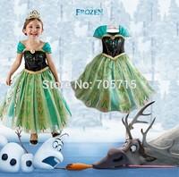 Retail Free shipping 2014 New Arrival frozen anna princess dress,big evening dress,girl formal dress
