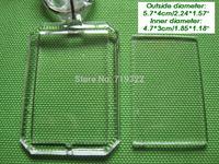 wholesale 100pcs/lot acrylic blank photo keychain keyring-octagonal rectangular shape size 4 * 5.7cm,diy yourself photo keychain