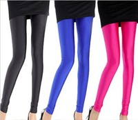 Free Shipping 2015 Spring NEW Womens Fluorescence Pants Candy-colored Sexy Ultra Elastic Fluorescent Skinny Leggings YGS01