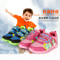 New 2014 Autumn Kids Running Shoes Sport Sneaker Children Footwear Child Cartoon Horse Shoes with Flashing Flasher LED Lights