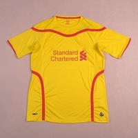 LIVERPOOL Away Yellow 2014/15 Soccer jersey football kits Uniform SUAREZ GERRARD COUTINHO STURRIDGE STERLING Shirts