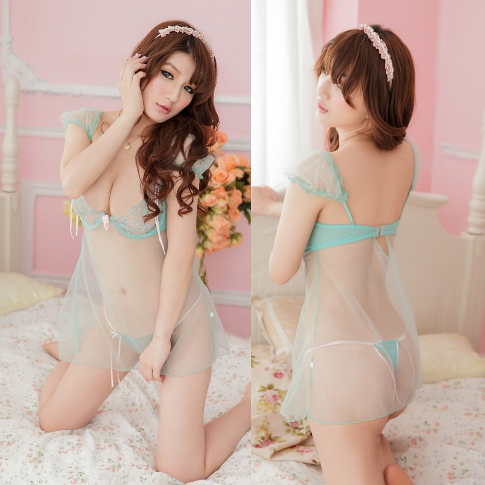 2014 special offer erotic sexy costumes kimono sexy lingerie and high code transparent gauze lace wholesale see-through dress(China (Mainland))